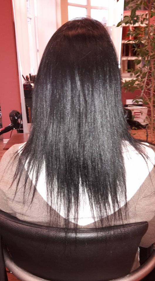 Haarverl 50cm vorher